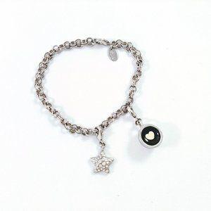 Lia Sophia Coffee Cup Heart & Star Charms Bracelet